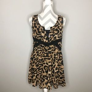 Flowy Cheetah Print Dress
